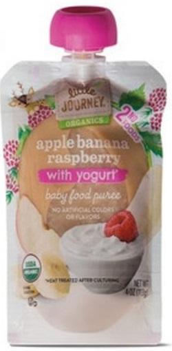 Apple Banana Raspberry with Yogurt, Baby Food Puree