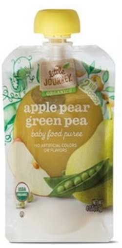 Apple Pear Green Pea, Baby Puree