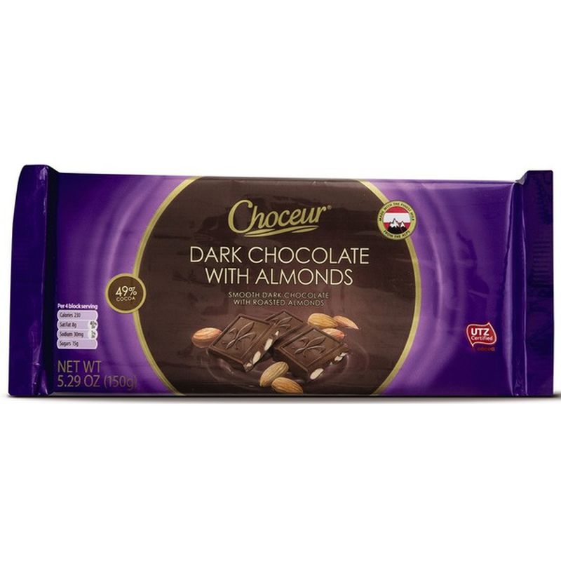 Dark Chocolate With Roasted Almonds