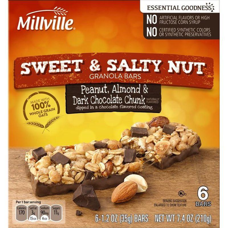 Sweet & Salty Granola Bars - Peanut, Almond, and Dark Chocolate