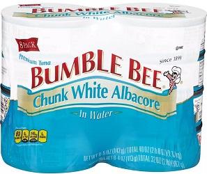 Chunk White Albacore Tuna in Water