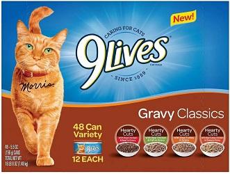 Gravy Classics Wet Cat Food Variety Pack, 48 pk.