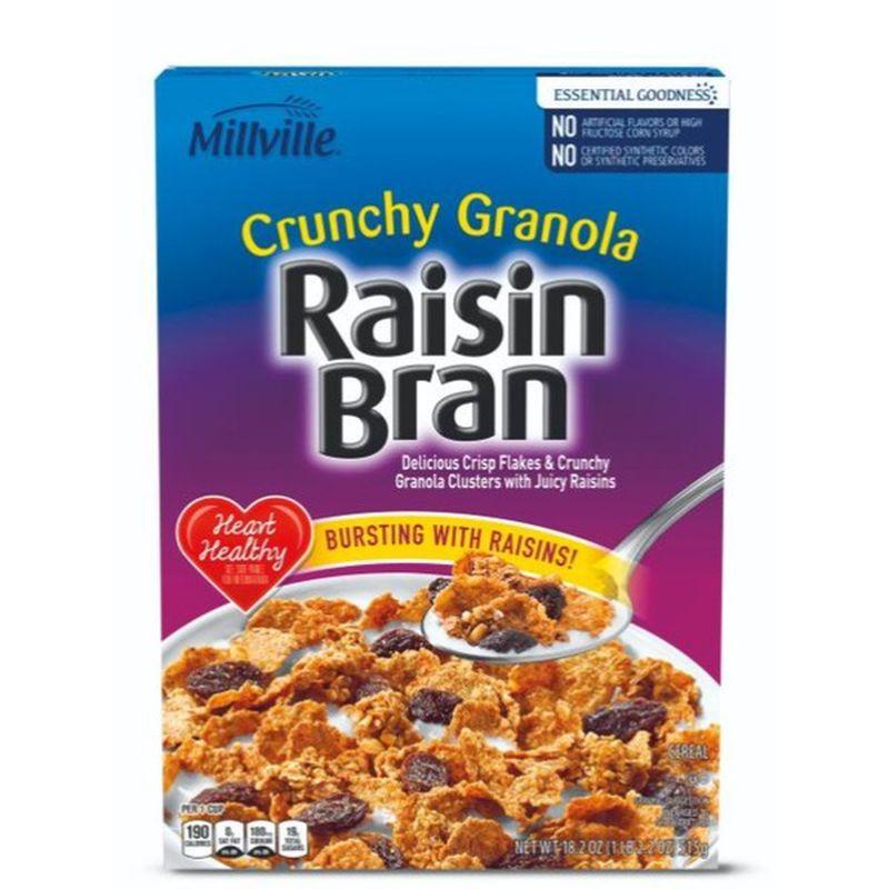 Crunchy Granola Raisin Bran Cereal