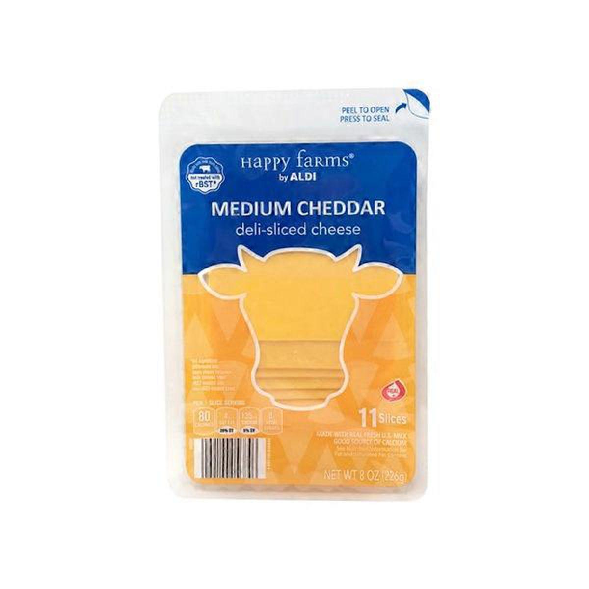 Deli Sliced Medium Cheddar Cheese