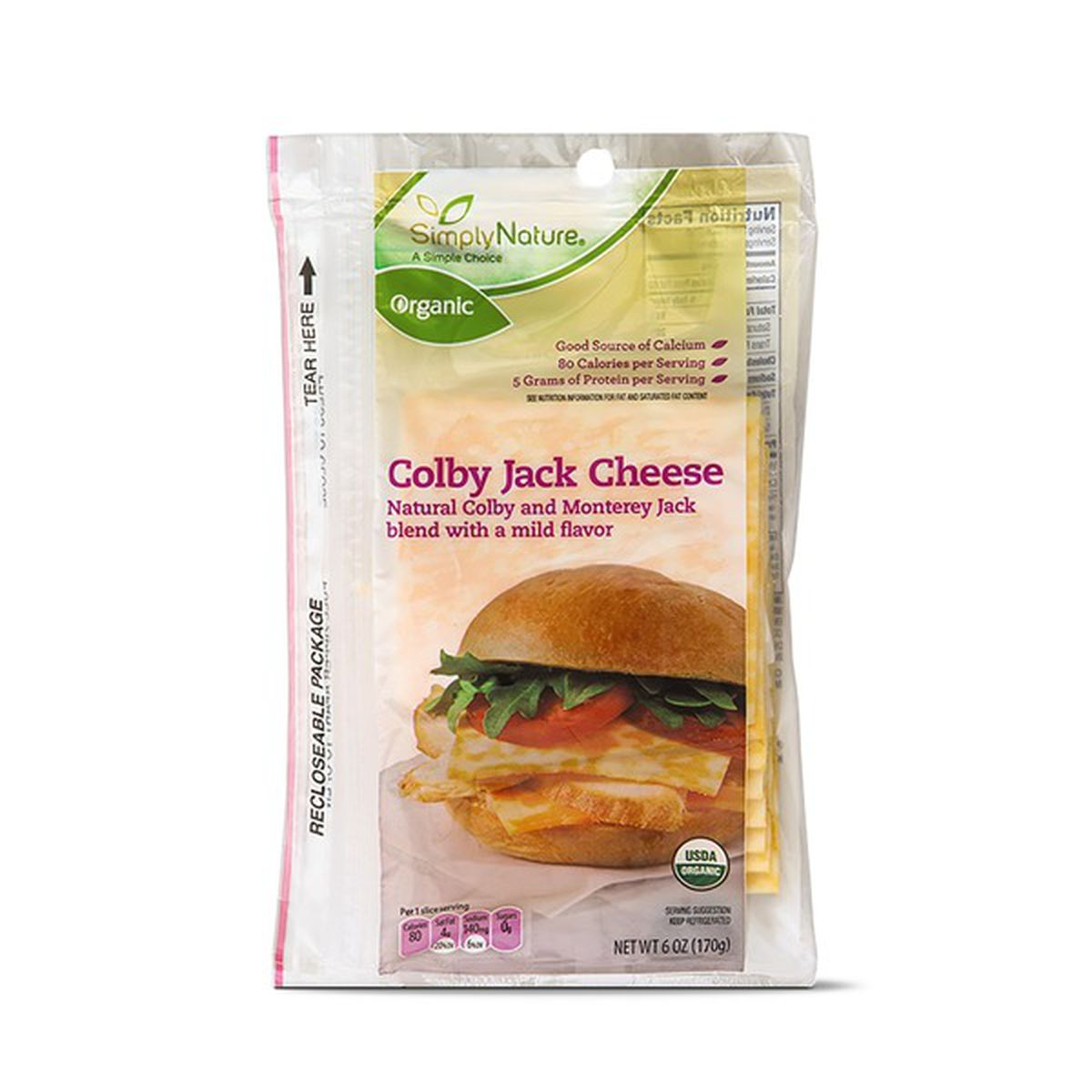 Deli Sliced Organic Colby Jack Cheese