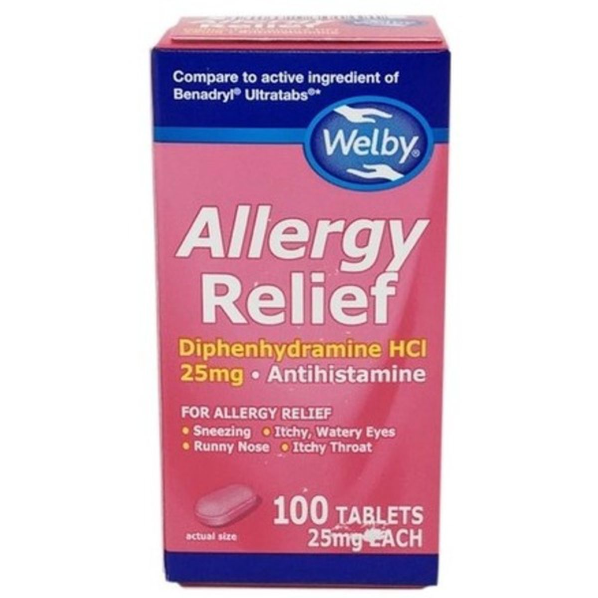 Allergy Relief, Diphenhydramine HCL, 25mg Tablets