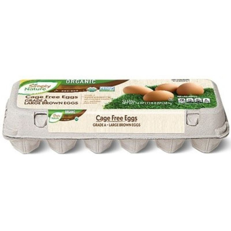 Organic Cage Free Large Brown Eggs - Grade A