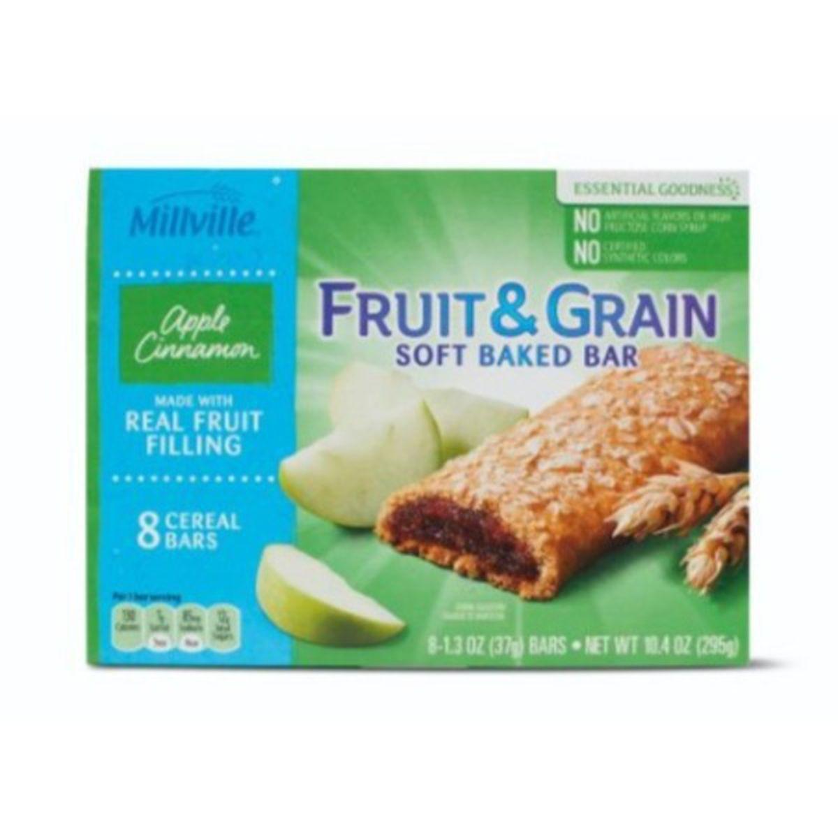 Fruit and Grain Cereal Bars - Apple Cinnamon