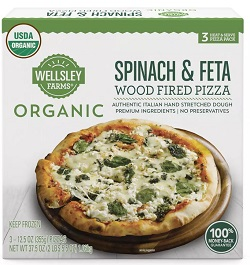 Organic Spinach & Feta Wood Fired Pizza