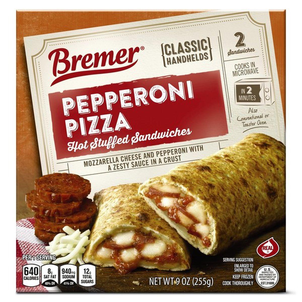 Pepperoni Pizza - Hot Stuffed Sandwich