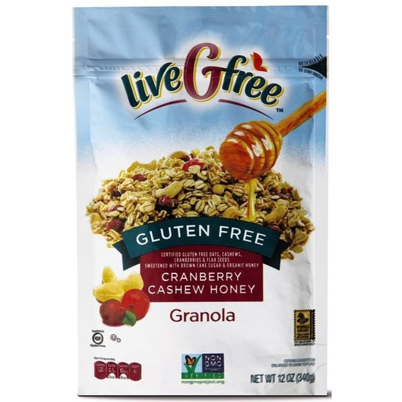 Cranberry Cashew Honey Granola - Gluten Free