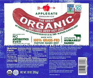Organics Uncured Beef Hot Dogs