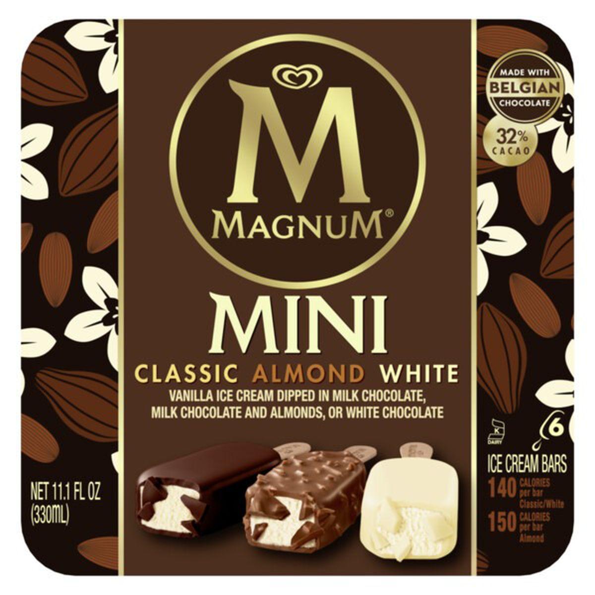 Mini Ice Cream Bars Classic, Almond And White