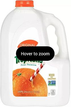 100% Orange Juice - No Pulp