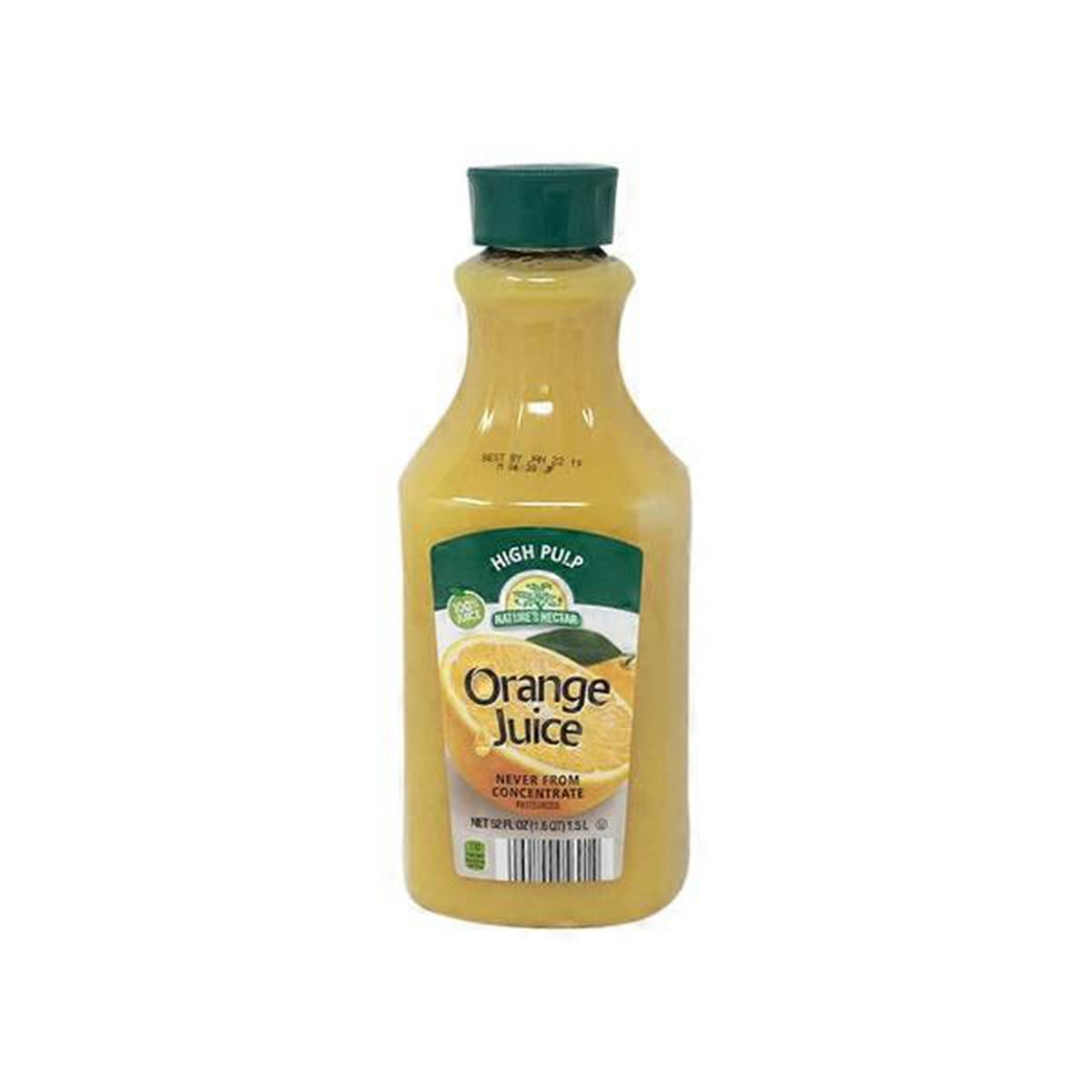 100% Pure Squeezed Orange Juice - Not From Concentrate, with Pulp