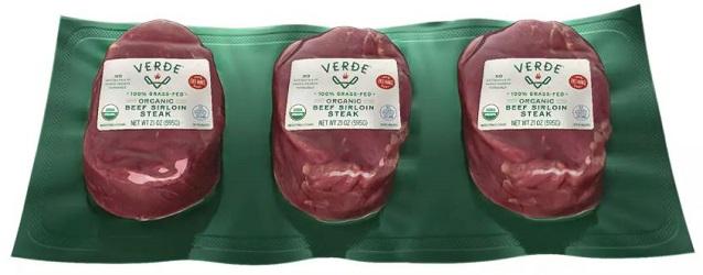 Organic Grass-Fed Beef Sirloin Steak