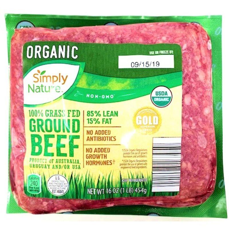 Organic 100% Grass Fed 85/15 Ground Beef