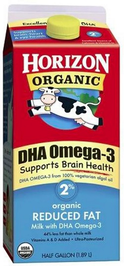 Organic 2% Milk with DHA
