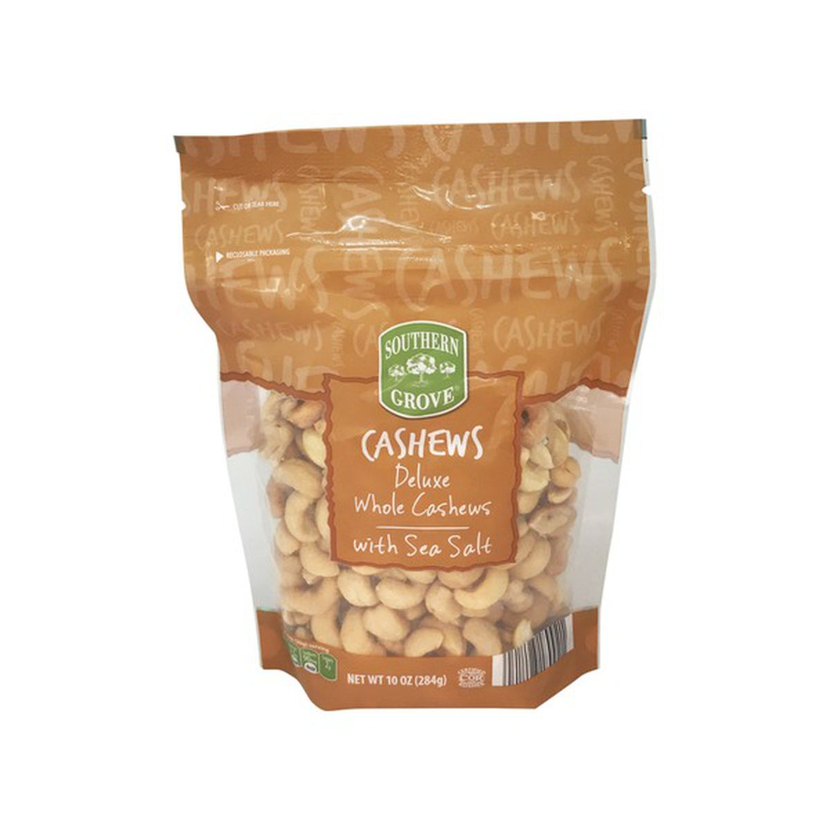 Deluxe Whole Cashews with Sea Salt