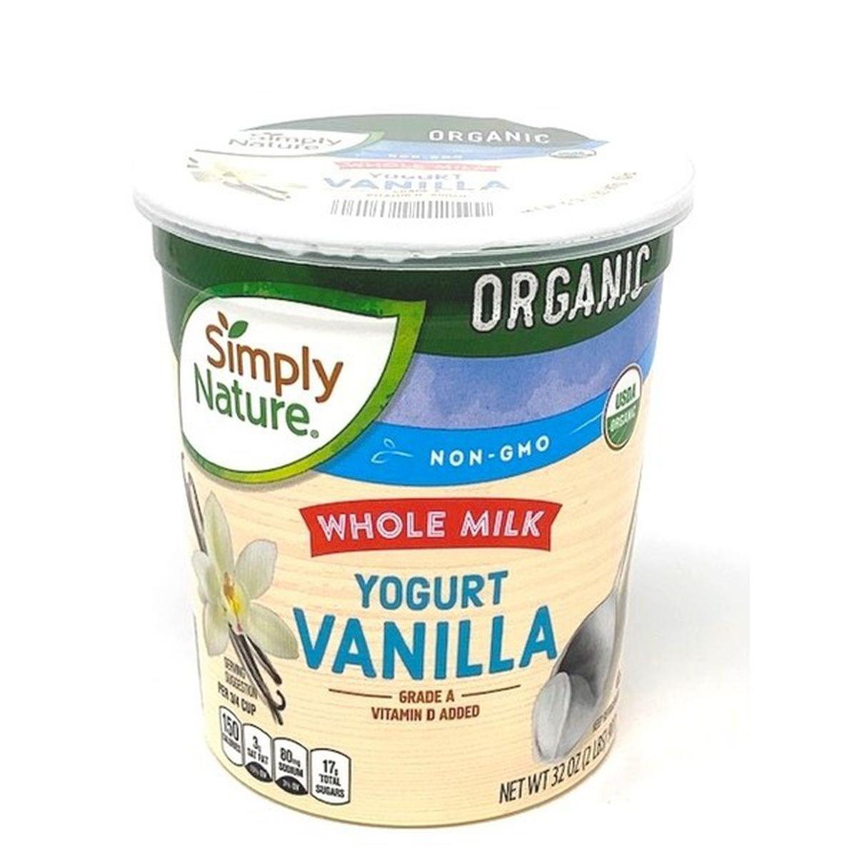 Organic Vanilla Yogurt